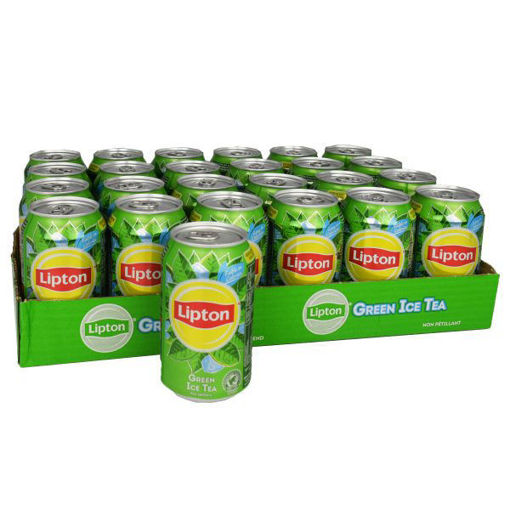 Afbeeldingen van Lipton Ice Tea Original green 24x33CL
